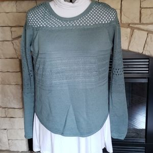 Teal knox rose sweater size small